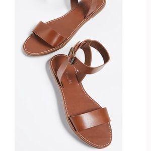 Madewell Women's Boardwalk Leather Sandal Sz 8.5